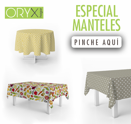 Novedas en Hules y Manteles:ORYX
