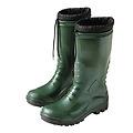 Botas de goma altas verdes de invierno