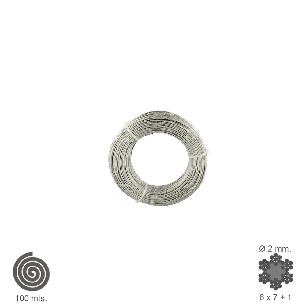 Cable Galvanizado   2 mm. (Rollo 100 Metros) No Elevacion