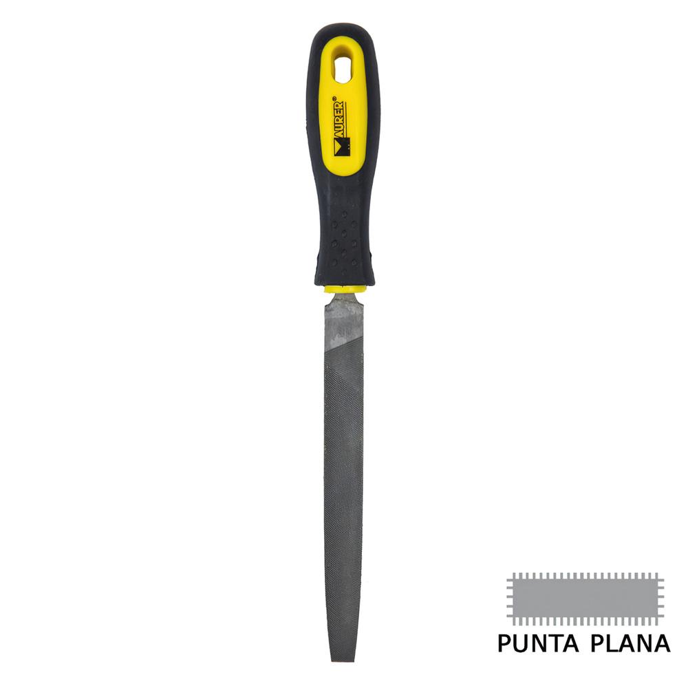 Lima Maurer Con Mango Plana Punta Entrefina 6
