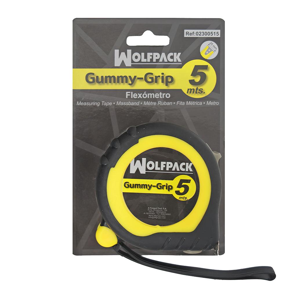 Flexometro Magnetico Grip Topline 5 metros / 25 mm. Con Freno