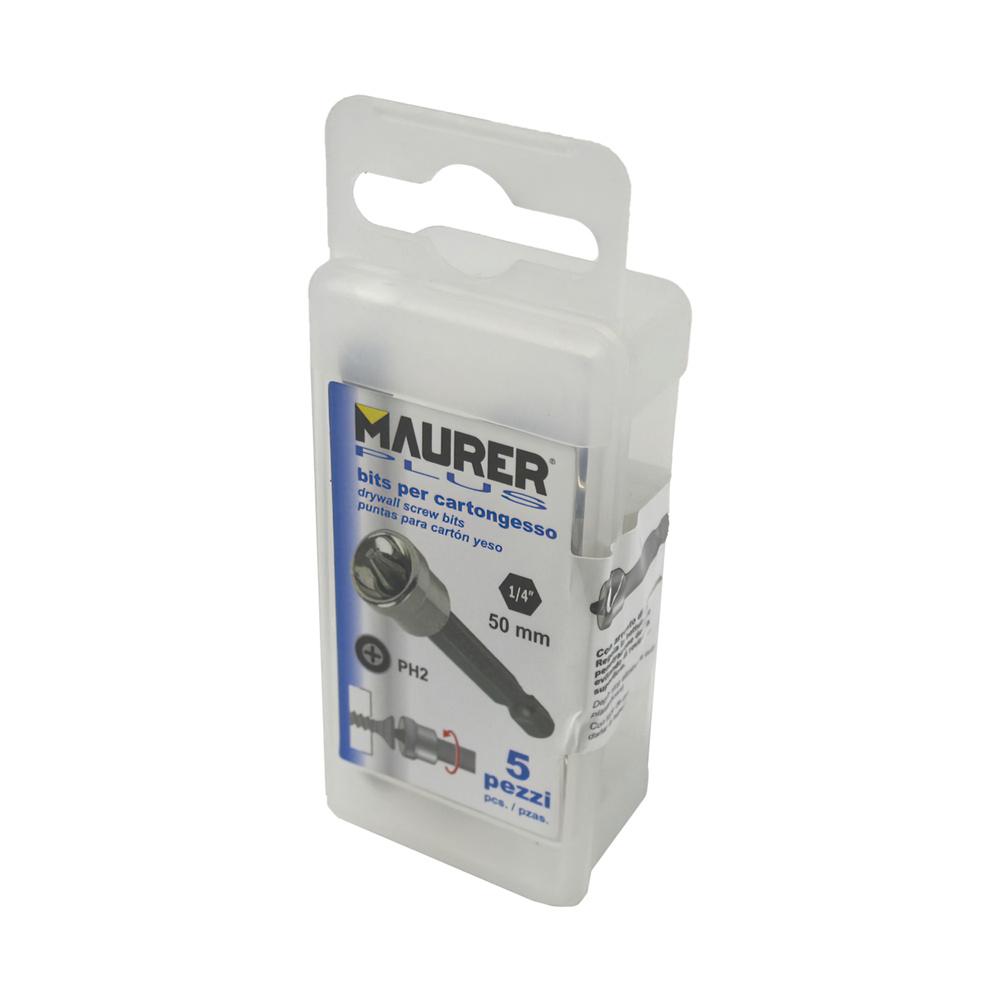 Destorpuntas Maurer Pladur Phillips Nº 2  Estuche de 5 piezas  50 mm.
