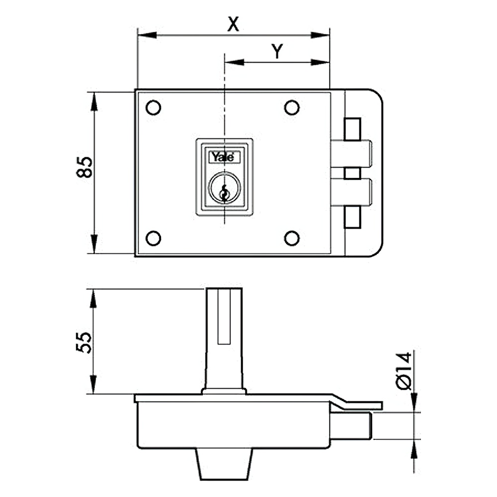 Cerradura Azbe    6-0-12-hn/ Derecha
