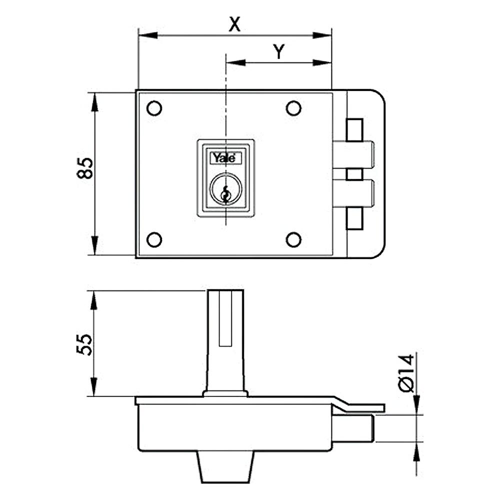 Cerradura Azbe    6-0-12-hn/ Izquierda