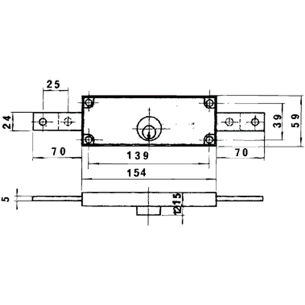 Cerradura Lince 5511         Bicromatada