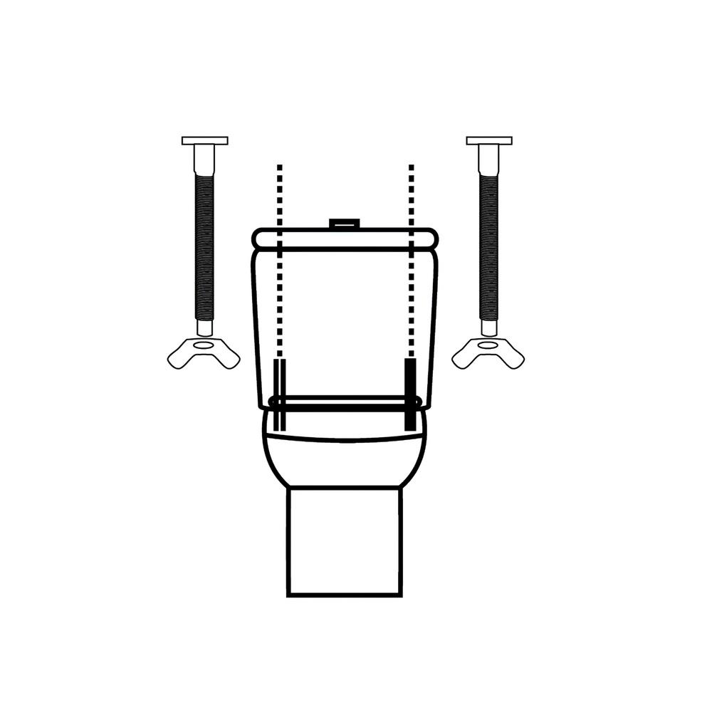 Juego Tornillos Acople Cisterna / Inodoro  T-291