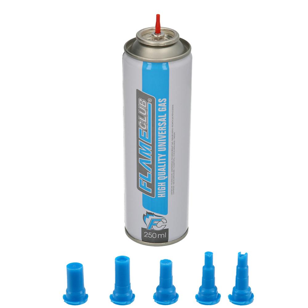 Cargador Gas Butano Encendedores / Mecheros 250 ml.