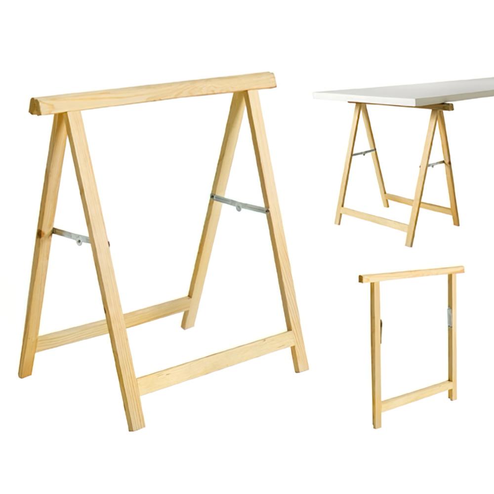 Caballete de madera 74x74cm alto aft a forged tool for Caballetes de madera para mesas