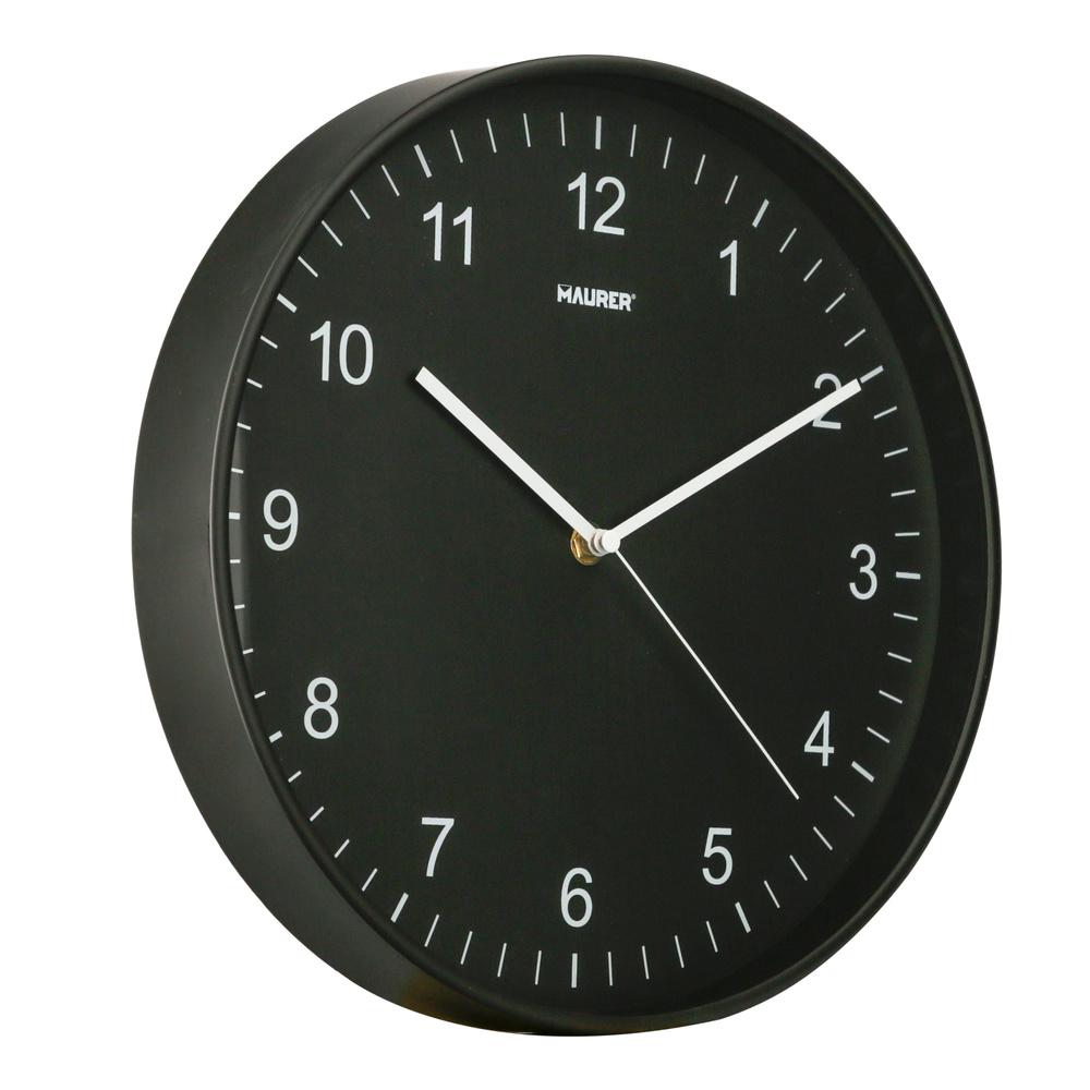 Reloj De Pared Ø 30 cm. Negro