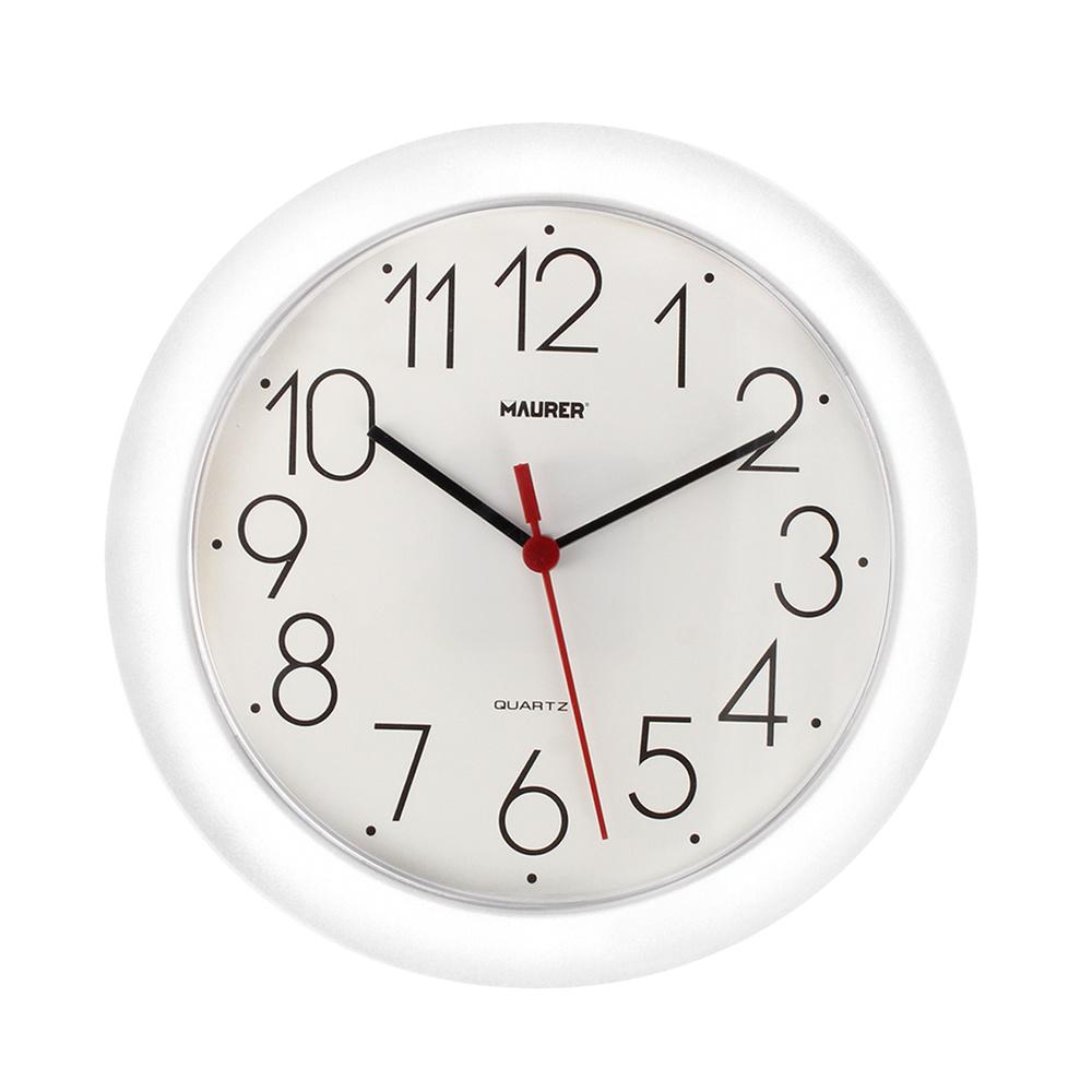 Reloj De Pared Ø 25 cm. Blanco