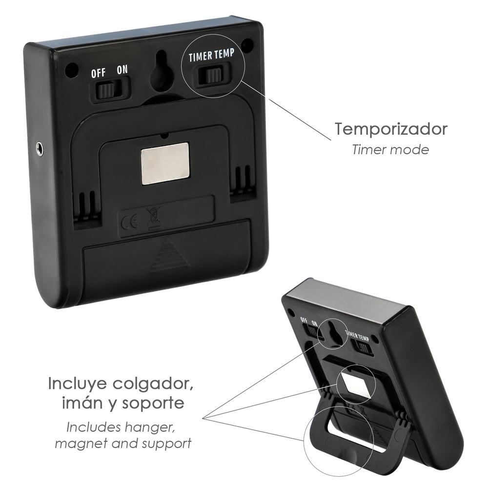 Termometro Digital Cocina Con Sonda Cableada, y Lector Temperatura Con Soporte
