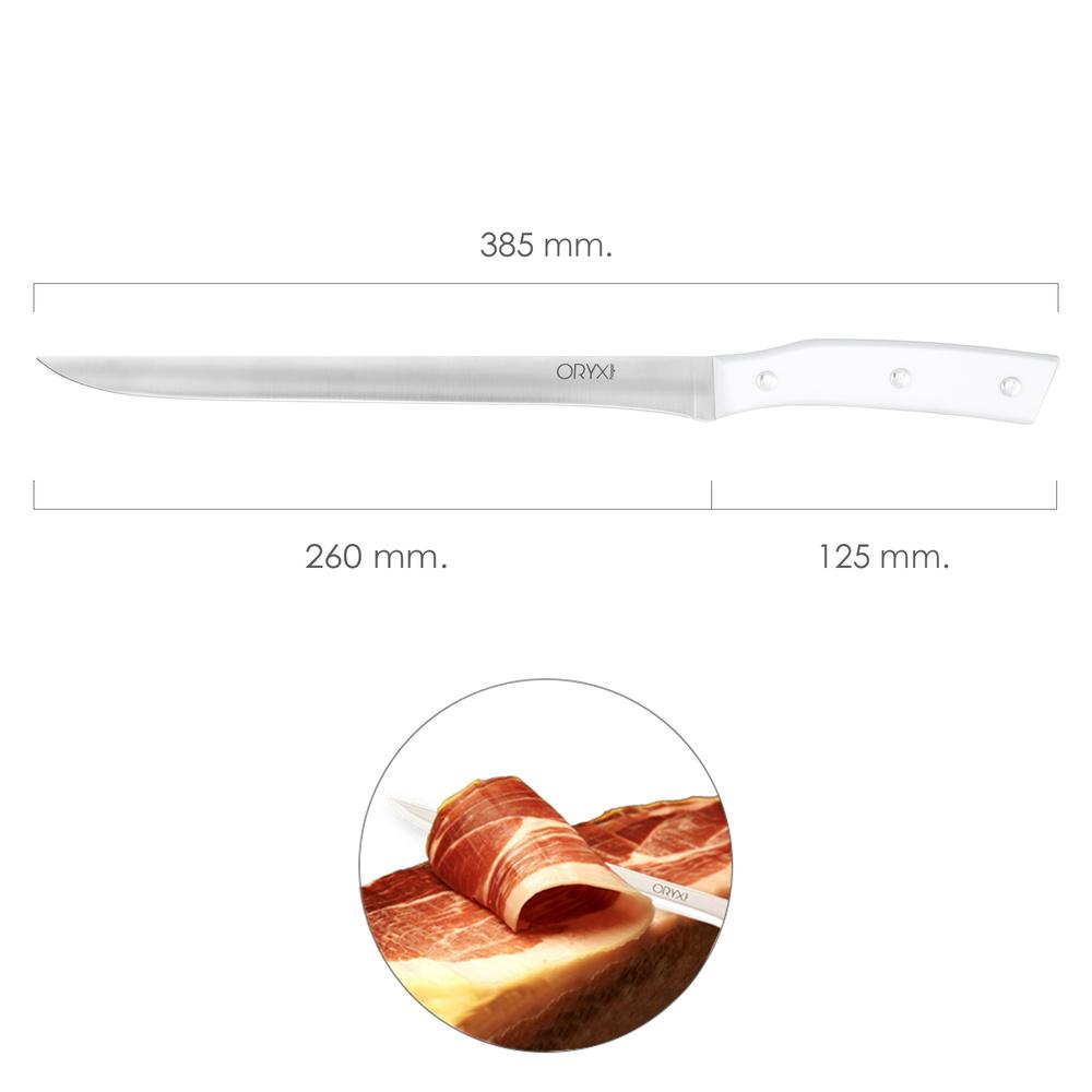 Cuchillo Alaska Jamonero Hoja Acero Inoxidable 26 cm. Blanco