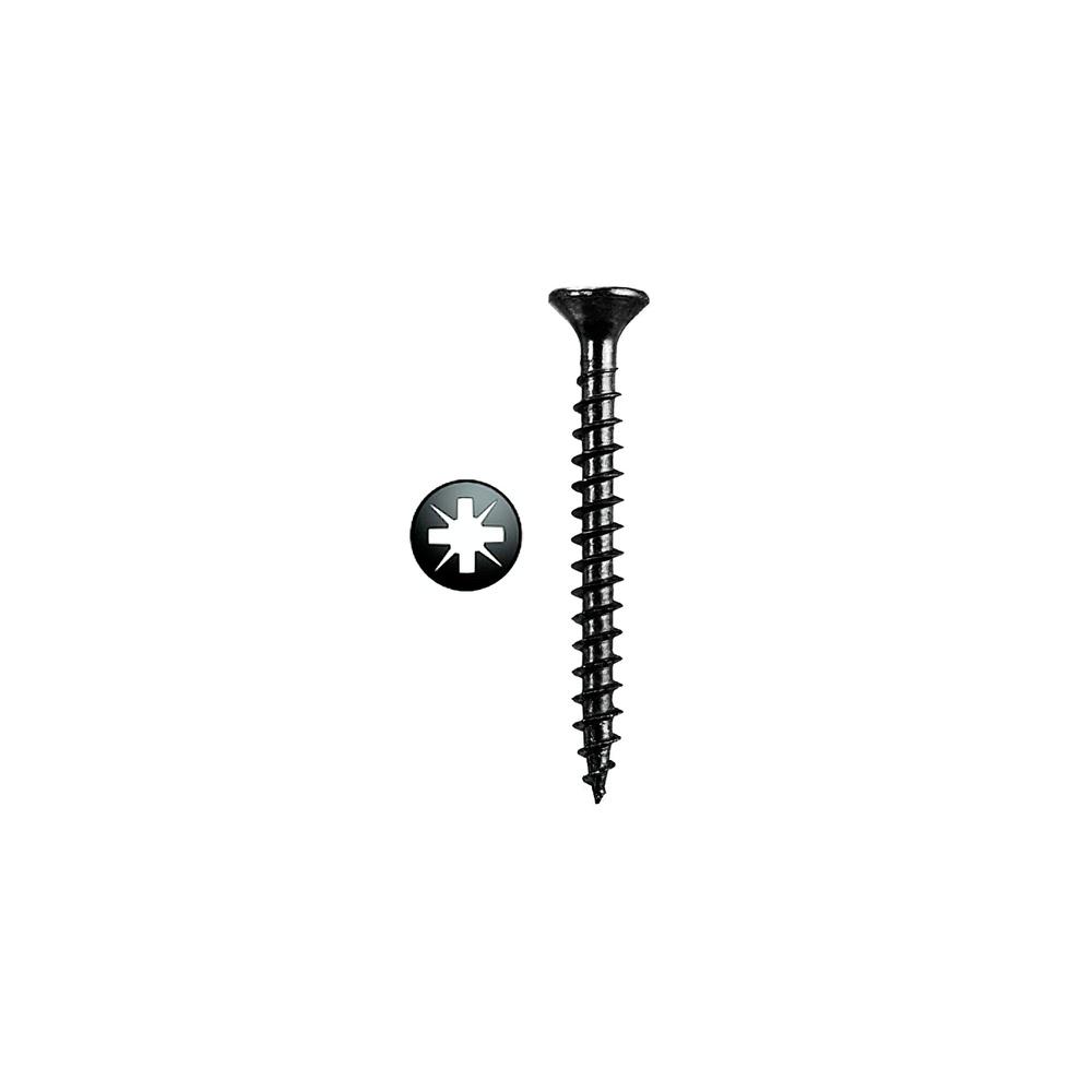 Tirafondo Pozidriv Negro 3,5  19x 16 mm. Caja Profesional