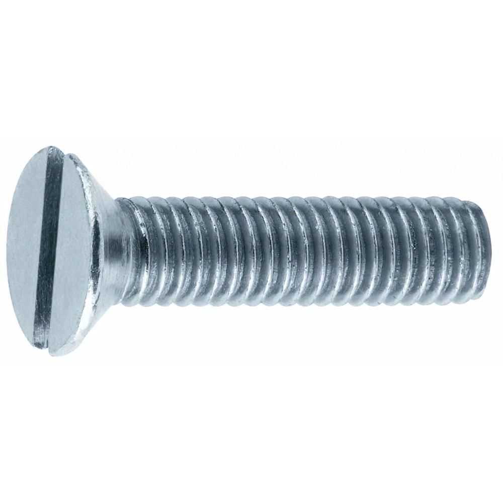 Tornillo para Metales Avellanado Ranurado Zincado M12x60 mm. DIN963