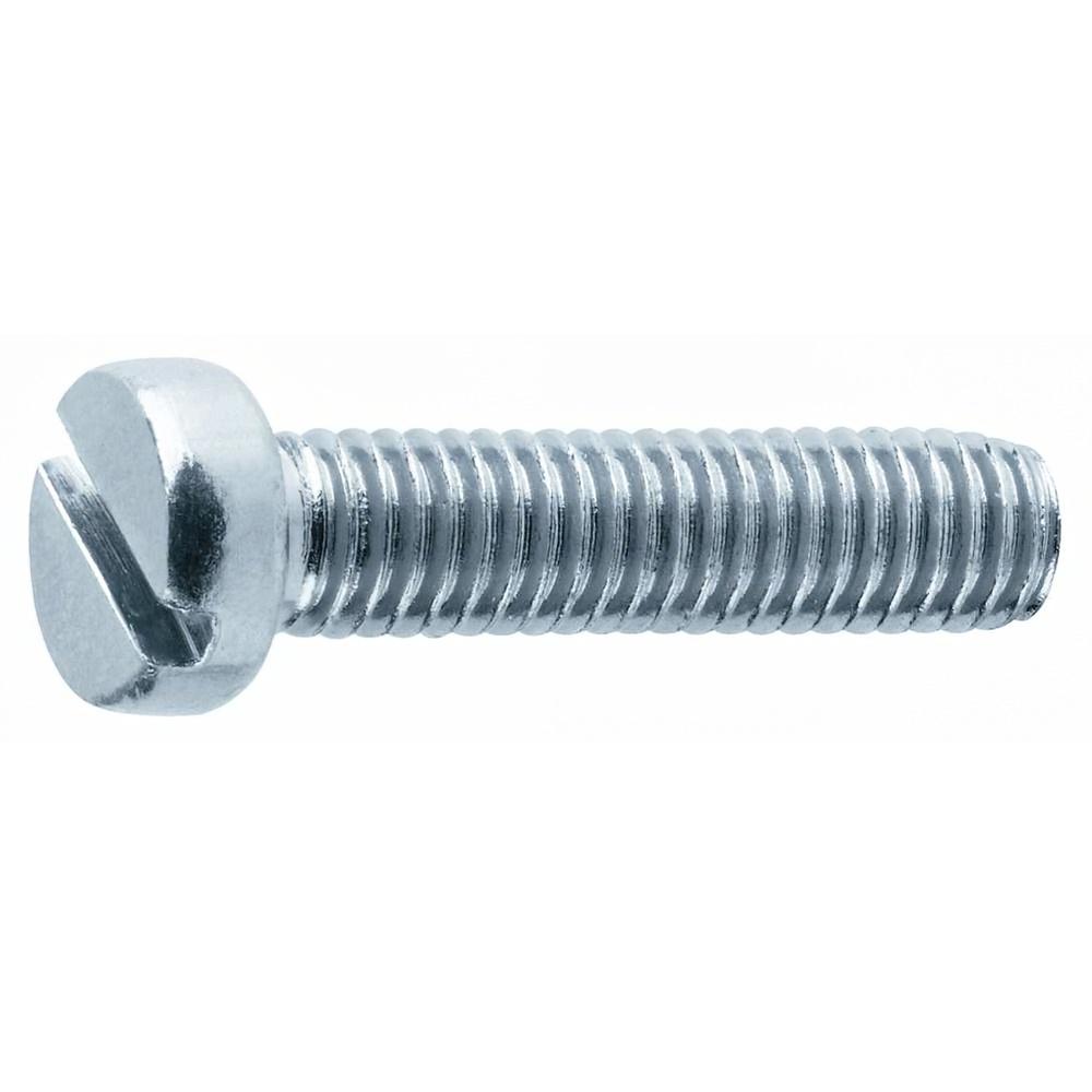 Tornillo para Metales Cilíndrico Ranurado Zincado M03x8 mm.  DIN84