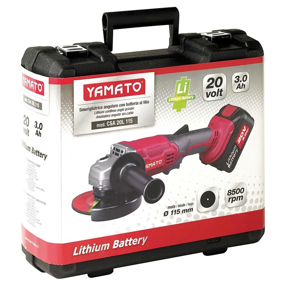 Amoladora A Bateria Litio 20 Voltios 3,0 Amperios, 8.500 R.P.M. Disco Ø 115 mm.