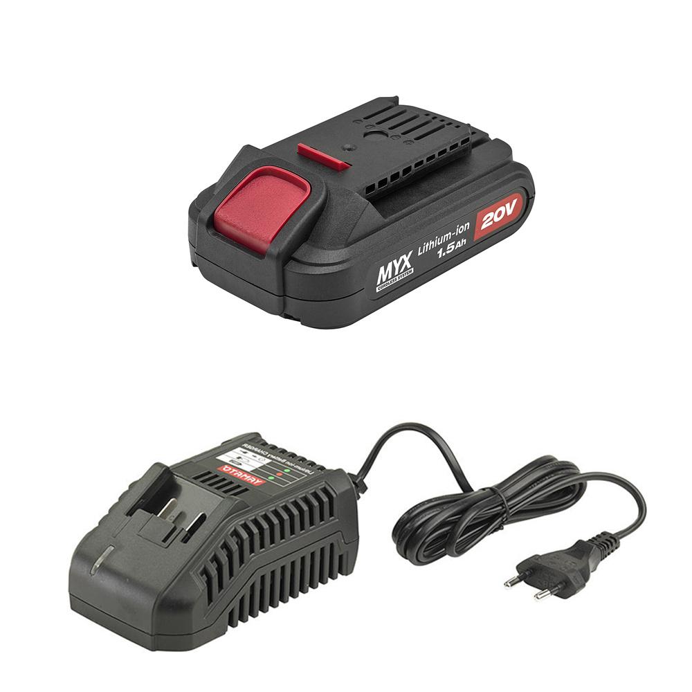 Taladro Atornillador 20 V. Con Bateria 1,5 Ah, Accesorios y Malentin.