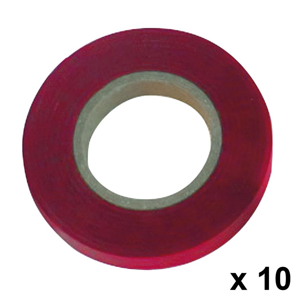 Cinta Atadora 11 x 0,15 mm. x 26 metros Rojo (Pack 10 Rollos)