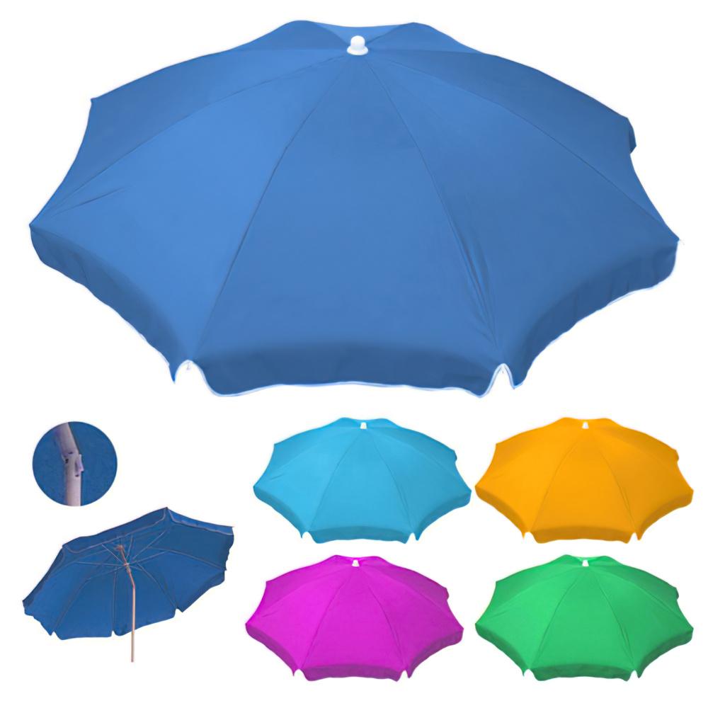 Sombrilla Playa Poliester 180 cm. Colores Surtidos