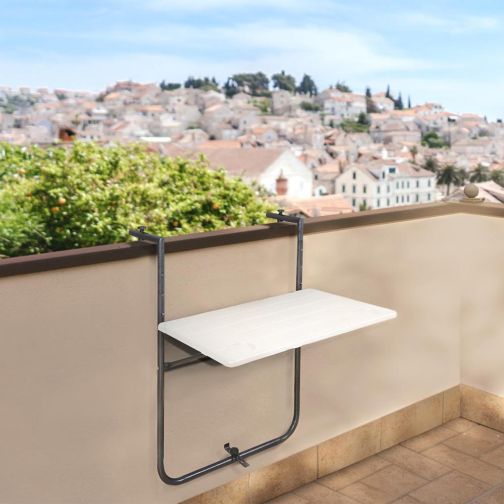 Mesa Plegable Colgante Para Balcones / Terrazas 36x60 cm.