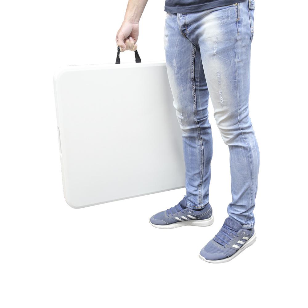 Mesa Plegable Rectangular HDPE 122x61x74 cm. Color Blanco