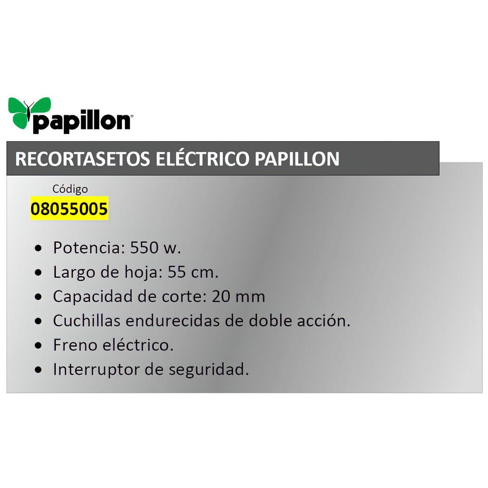 Recortasetos Papillon 550 w. Hoja 550 mm.