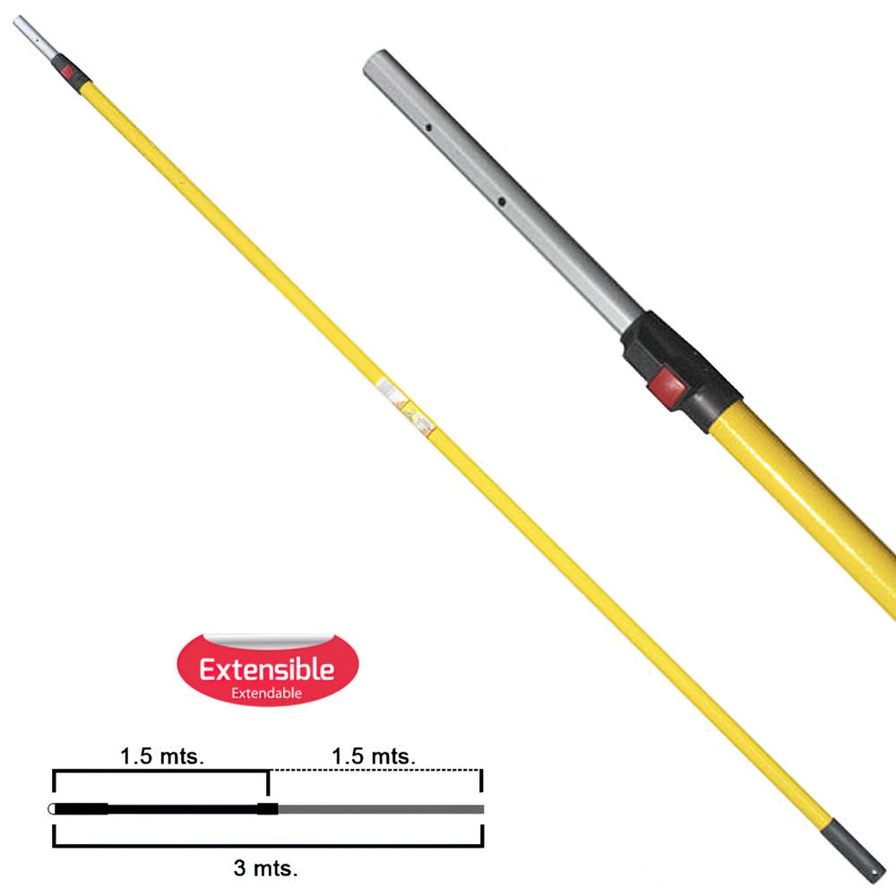 Mango Samurai Extensible Aluminio 1,5+1,5 Metros