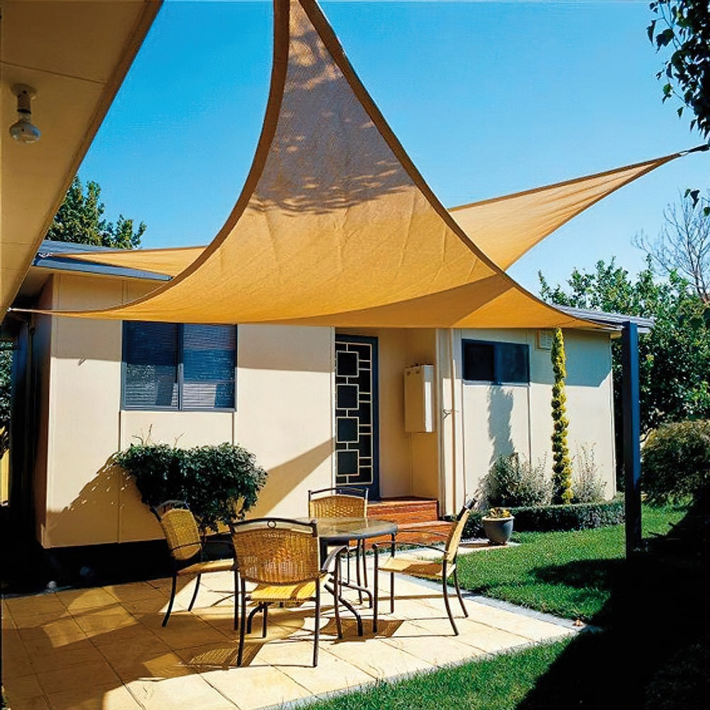Vela Sombra Jardin Triangular 3,6x3,6x3,6 metros Beige