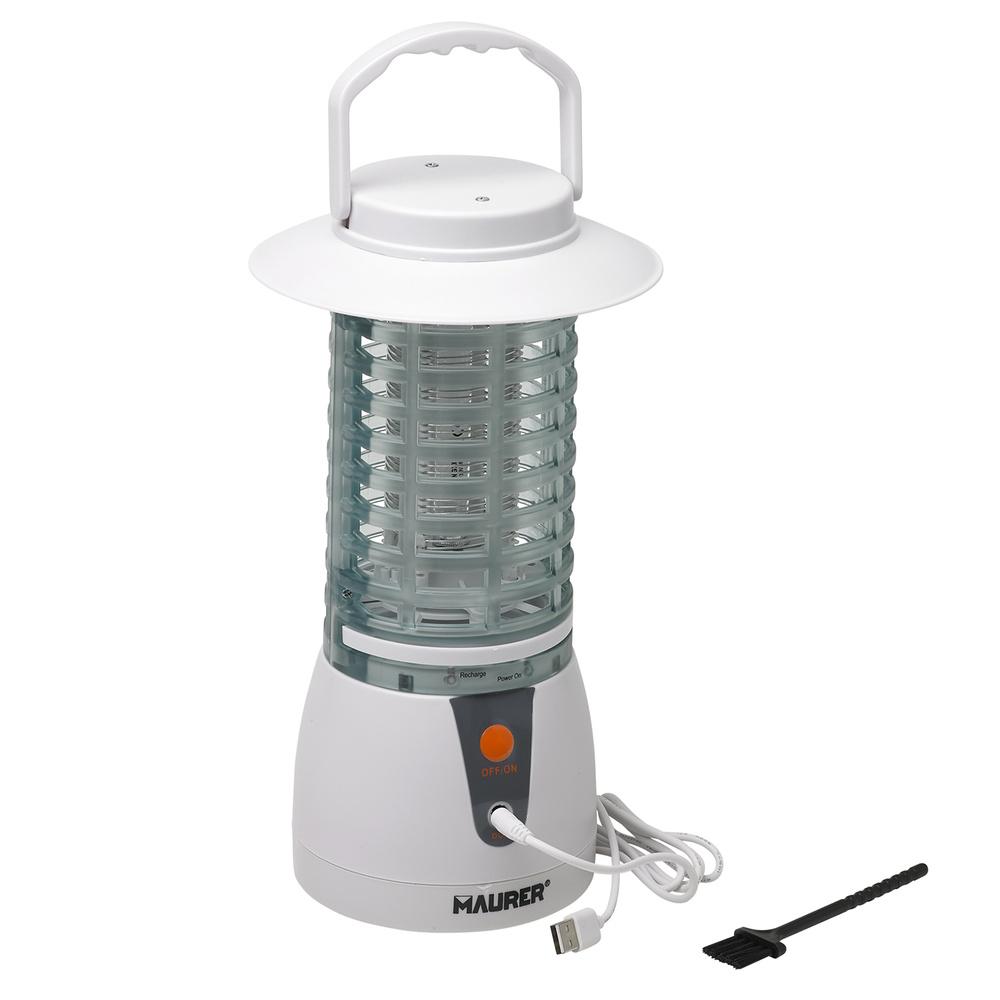 Exterminador De Insectos con Bateria Recargable 12 W.