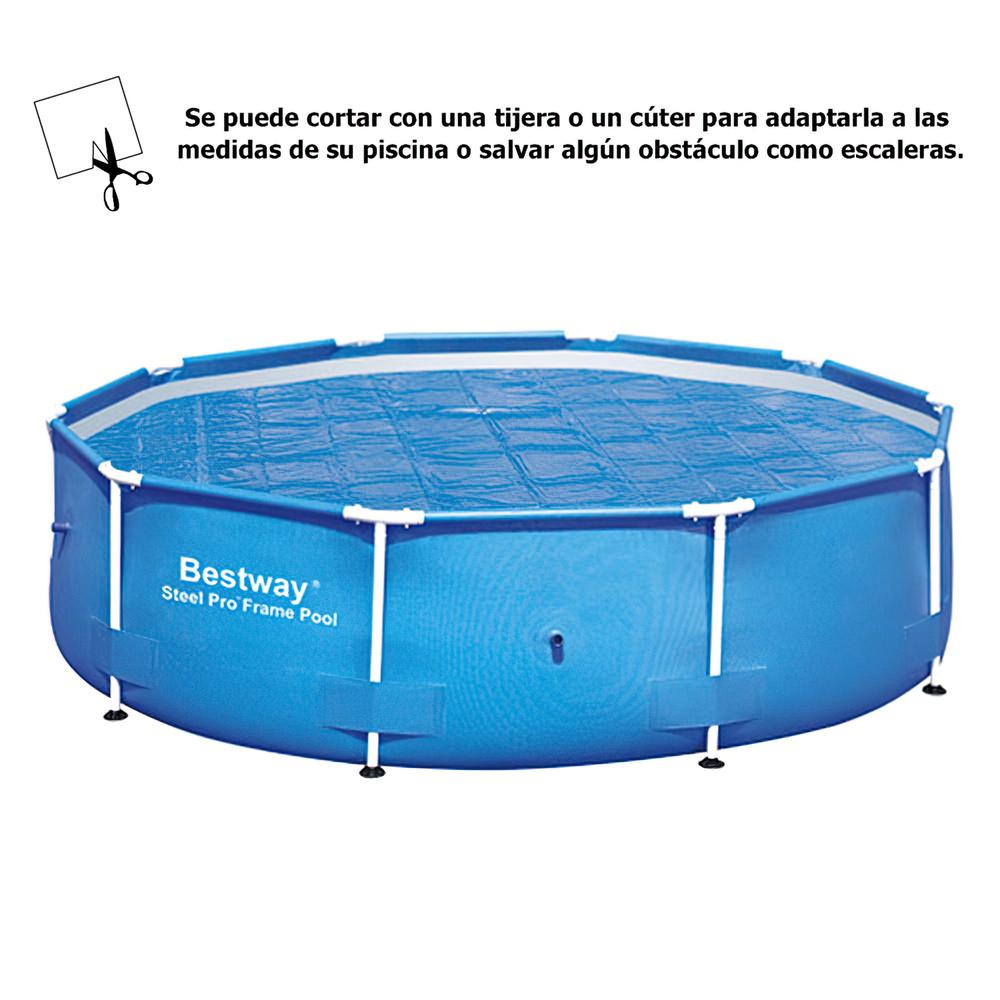 Cobertor solar para piscinas estructura metlica 305 cm for Estructura para piscina
