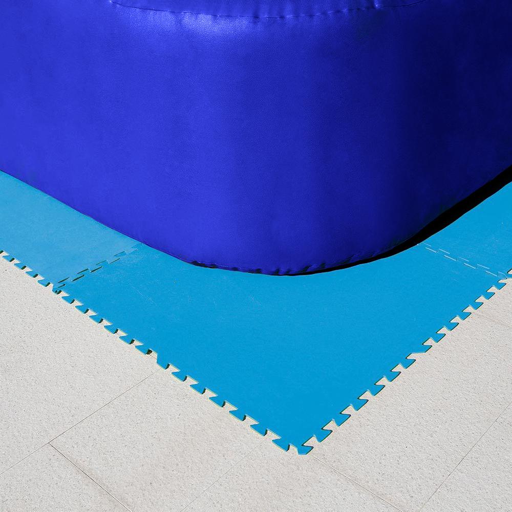 Protector Suelo Piscina (Set 8 Piezas) 50x50 cm.