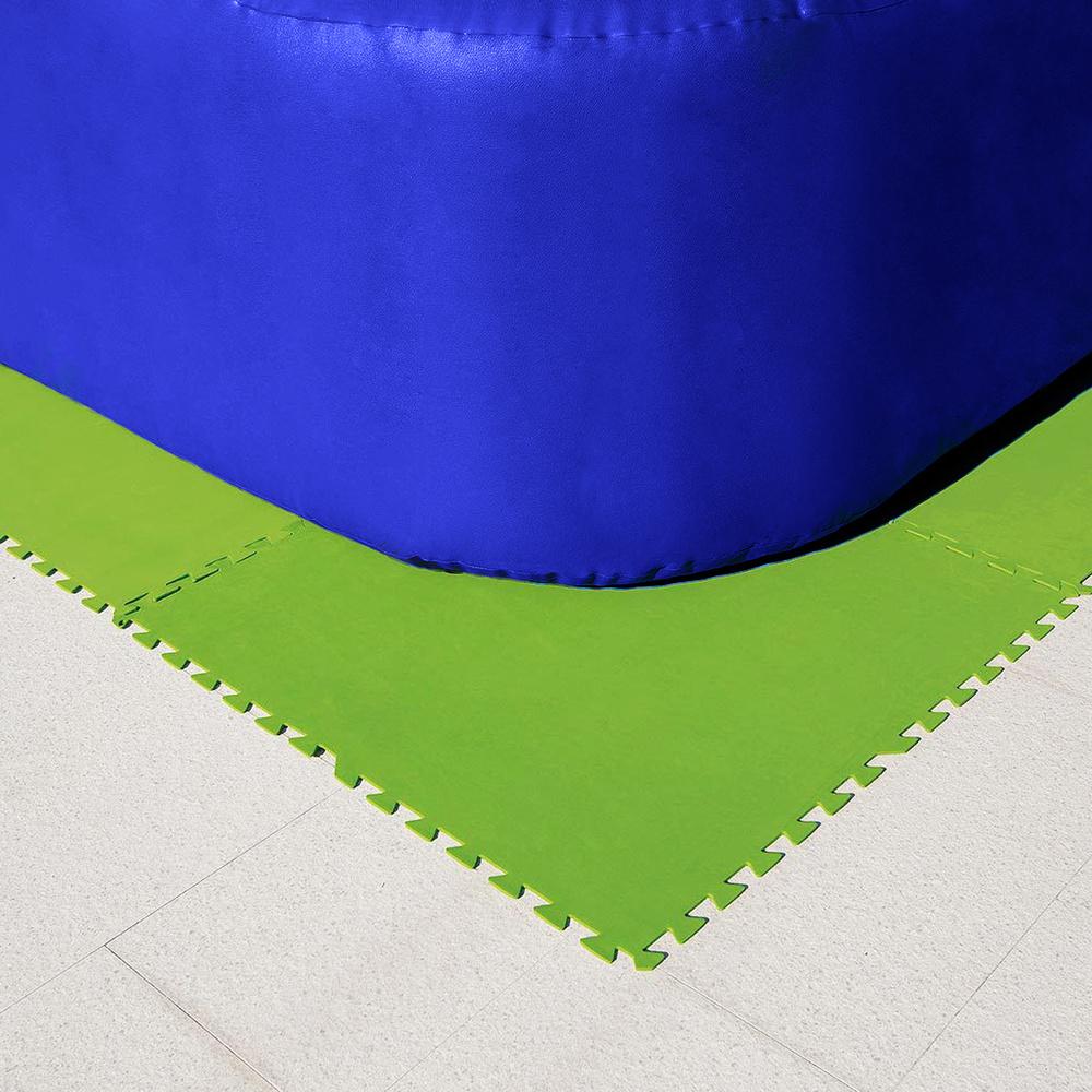 Protector Suelo Piscina (Set 8 Piezas) 81x81 cm.