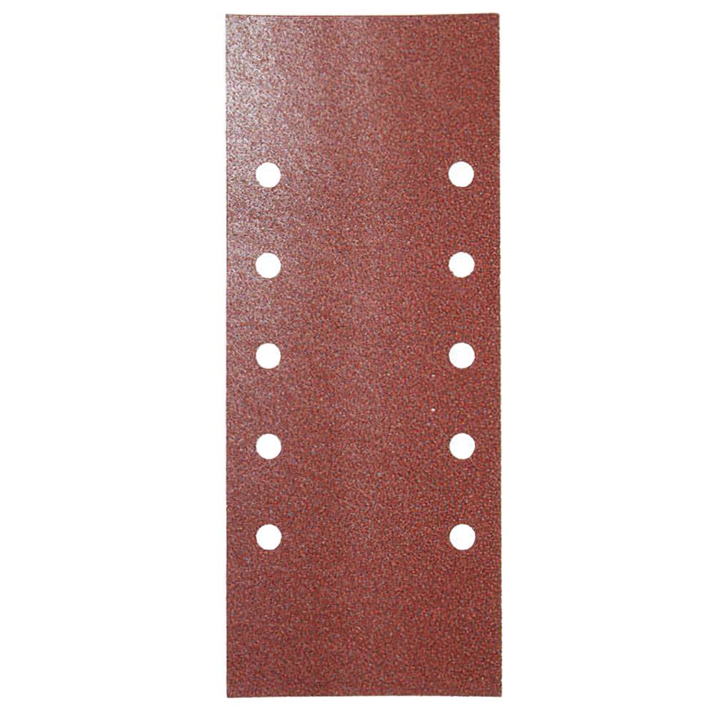 Lija Recambio Con Velcro 115x280 mm. con Agujeros Grano  40 (10 Piezas)