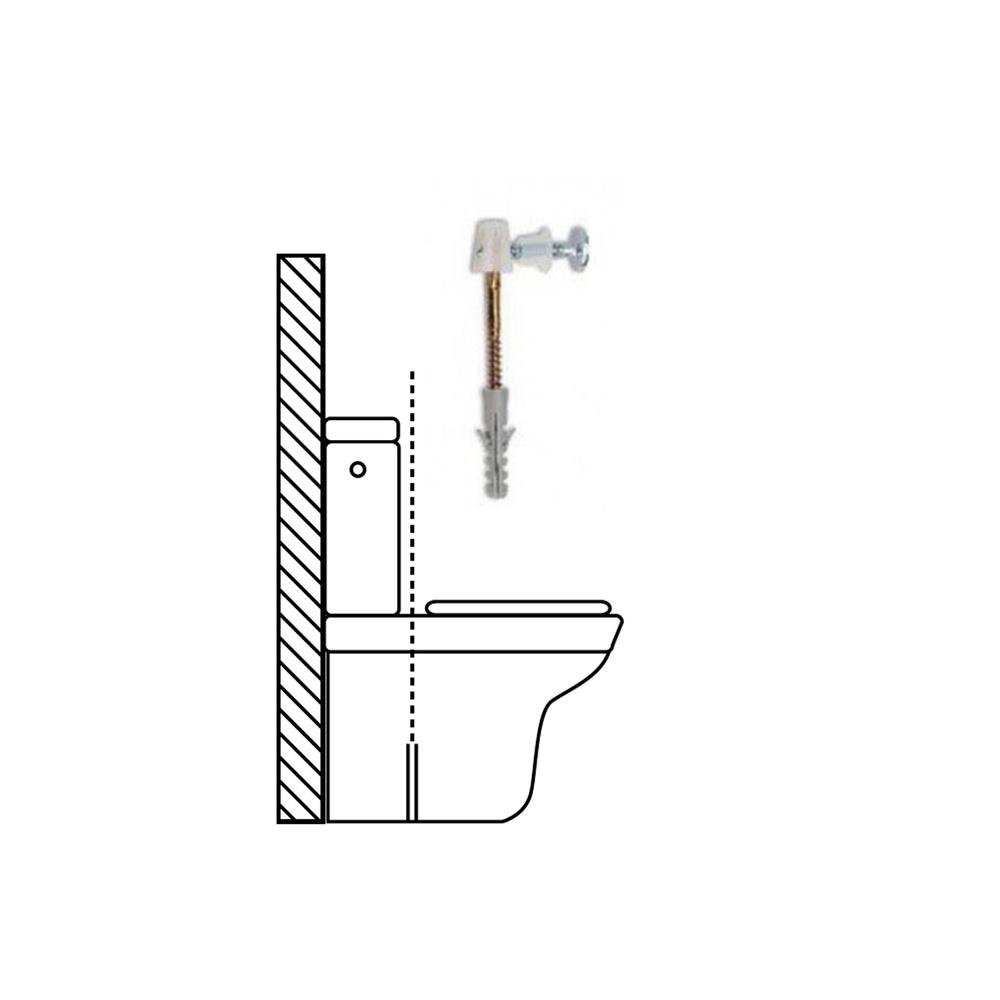 Kit Sanitario Fijación Wc  Horizontal 5x70 mm. (2 Piezas)