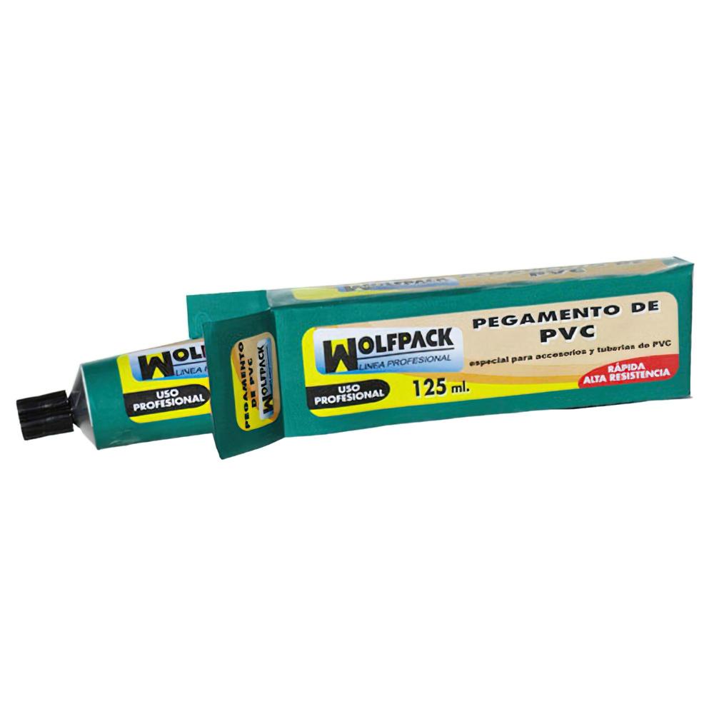 Pegamento PVC  Wolfpack    125 ml.