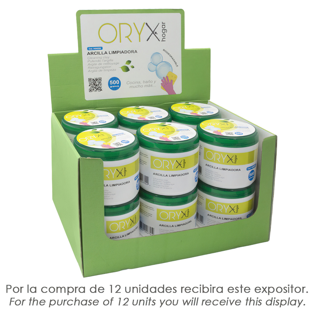Arcilla Limpiadora Multiusos Tarro 500 gramos.