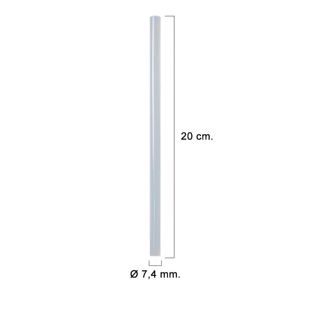 Silicona En Barra (Bolsa de 0,4 kg.) Transparente 7,4 mm.