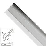 Tapajuntas Adhesivo Para Moquetas Aluminio Plata   82,0 cm.