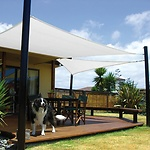 Toldo Vela Sombra Jardin Cuadrada 5.0x5.0 metros Blanca