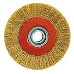 Cepillo Acero Latonado Circular Ø 100x17 mm.
