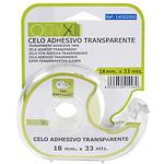 Cinta Celo Adhesivo Transparente 18 mm. x 33 Mts. Con Dispensador.