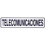 Rotulo Adhesivo 250x63 mm. Telecomunicaciones
