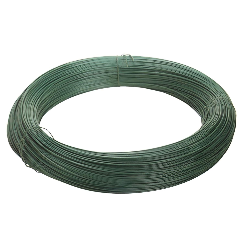 Alambre plastificado Verde Rollo 25 Kg. / Nº17