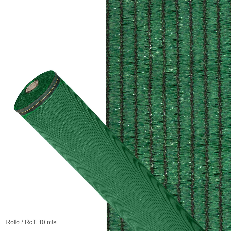 Malla Sombreo 90%, Rollo 1 x 10 metros, Reduce Radiación, Protección Jardín y Terraza, Regula Temper