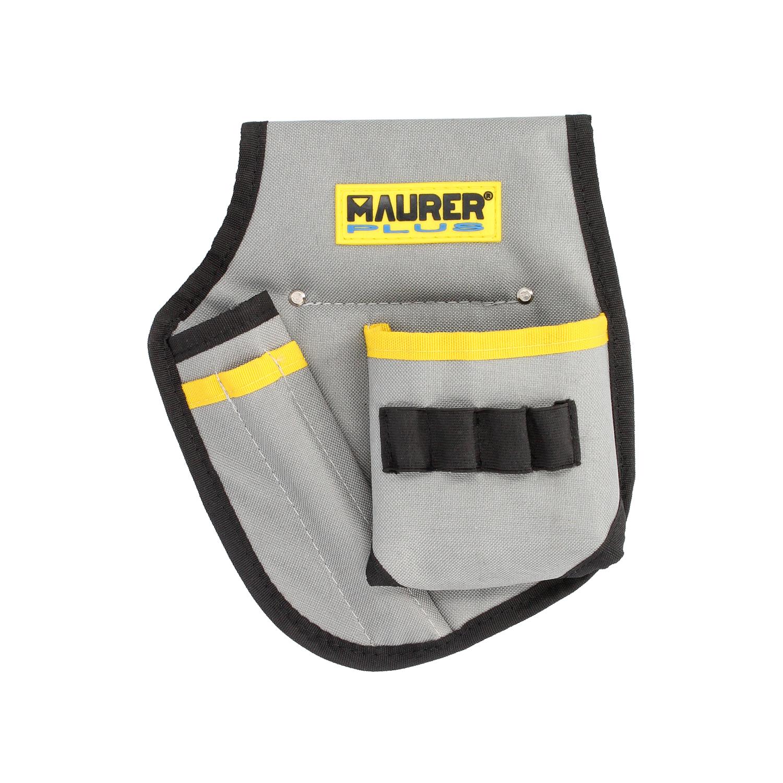 Funda Bolsa Porta Herramientas Para Cinturon Con 3 Bolsillos y 4 Elasticos. Portaherramientas Electr