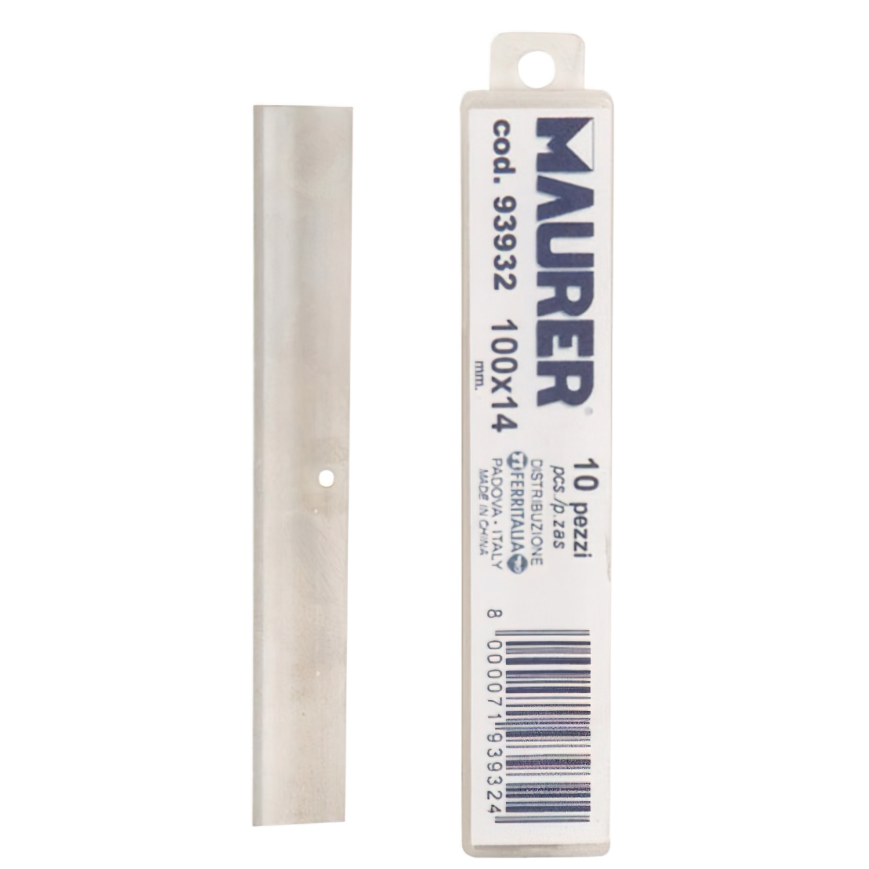 Hoja Reccambio Rascador Mango Metálico Maurer 10cm (10 piezas)