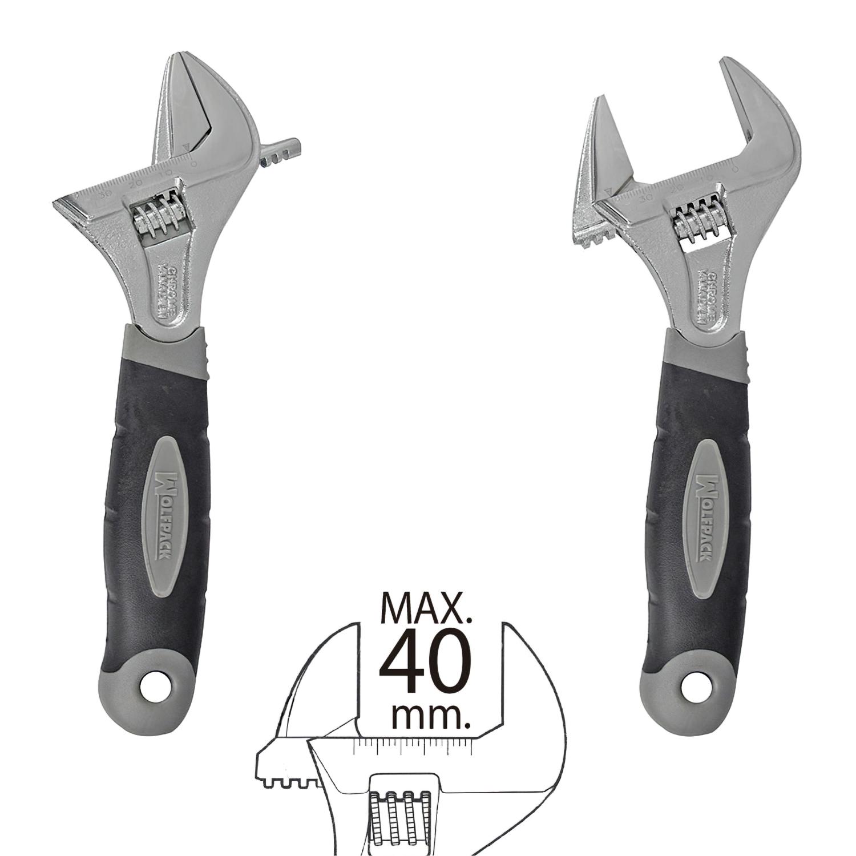 Llave Ajustable Gran Apertura 40 mm. medida 8