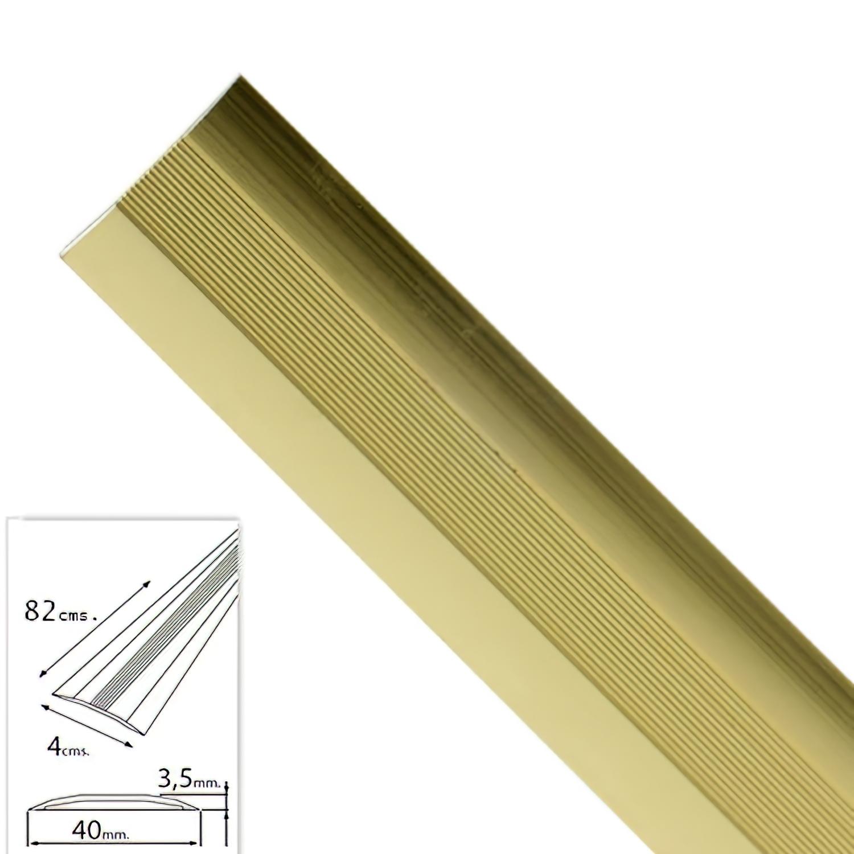 Tapajuntas Adhesivo Para Moquetas Metal Oro   82,0 cm.