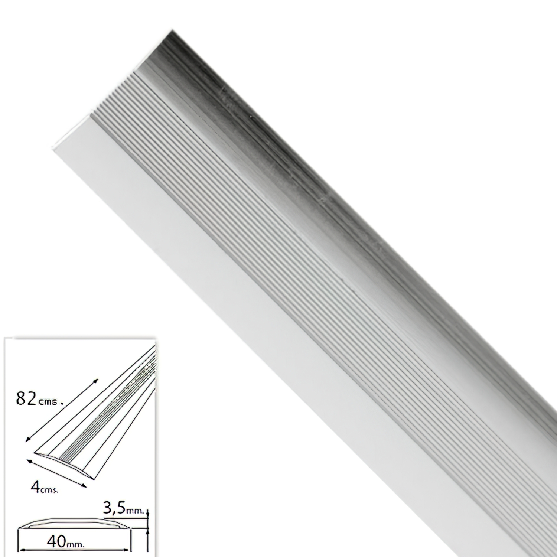 Tapajuntas Adhesivo Para Moquetas Metal Plata   82,0 cm.