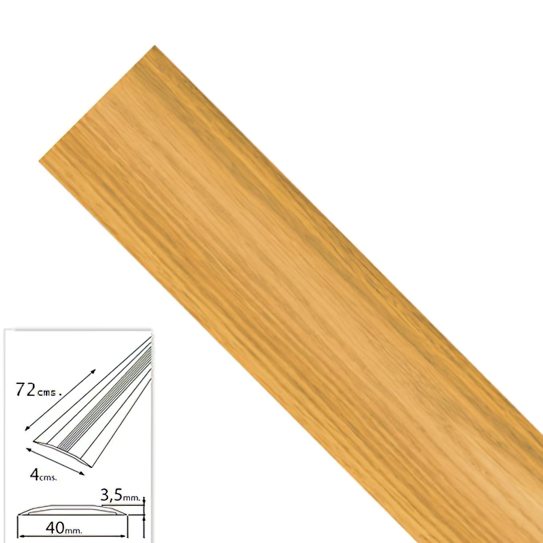Tapajuntas Adhesivo Para Moquetas Metal Roble   82,0 cm.